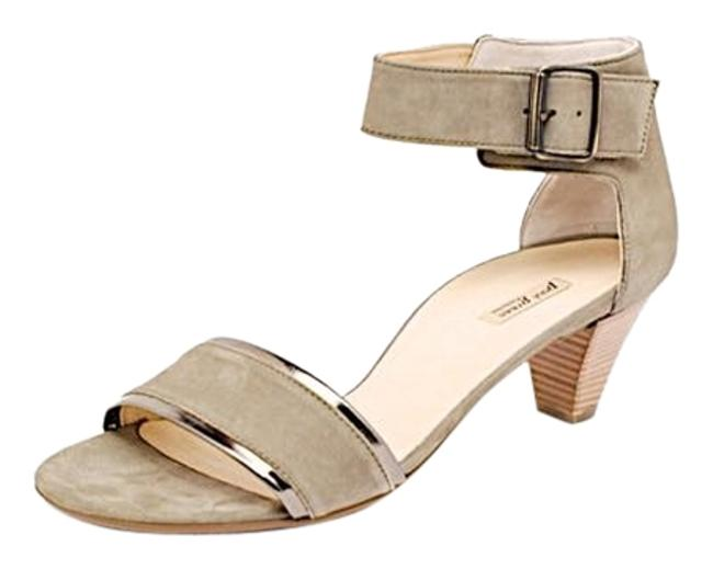 Item - Light Olive W Nubuck Ankle Strap Heels W/Velcro Closure - - Nwb Sandals Size US 10.5