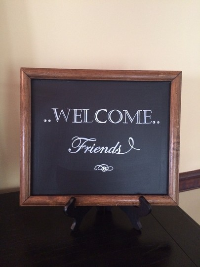 Welcome Friends Chalkboard Sign Reception Decorations