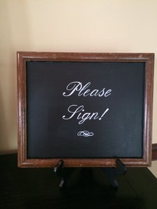 Chalkboard Guest Book Sign Reception Decoration