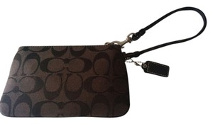 Coach Signature Wristlet in Brown