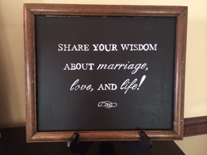 Chalkboard Guest Book Sign - Rustic Reception Decoration