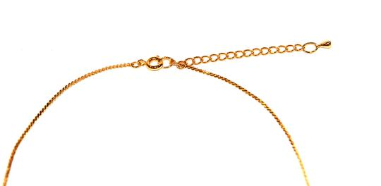 Other Skinny Mini Pave Gold Black Enamel Necklace Image 2