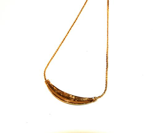 Other Skinny Mini Pave Gold Black Enamel Necklace Image 3