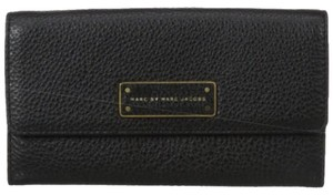 Marc by Marc Jacobs MARC BY MARC JACOBS Wallet - Too Hot To Handle Long Tri-Fold Continental In Black New With Tags