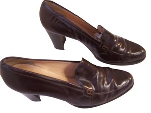 Anne Klein 2 Leather Made In Italy 10 Medium Brown Pumps