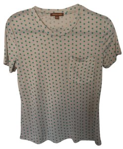 Hive & Honey Polka Dot Soft T Shirt Tan and turquoise