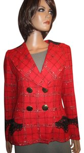 Christian Lacroix Red and Black Blazer