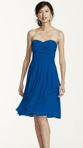 David's Bridal Horizon Chiffon Classic Traditional Bridesmaid/Mob Dress Size 6 (S)