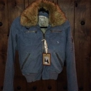 Abercrombie & Fitch Light Blue Womens Jean Jacket