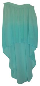 Forever 21 High-low Mini Skirt Ombre Turquoise