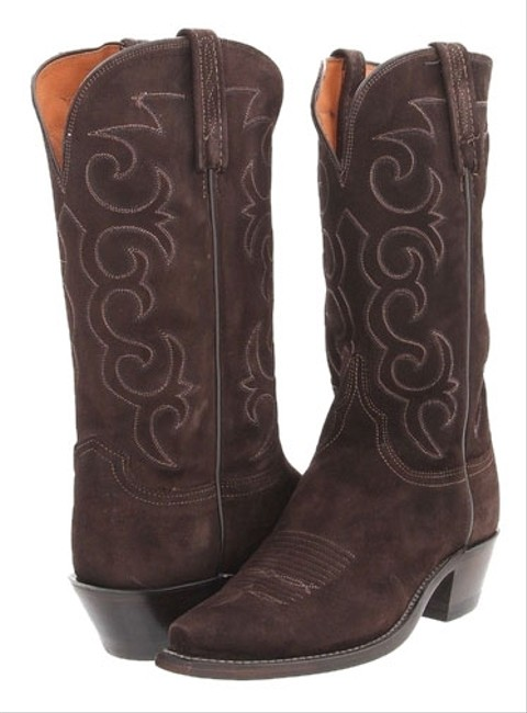 Item - Chocolate Brown Box Womens Suede Goat Nv7058.54 New In Boots/Booties Size US 8 Wide (C, D)