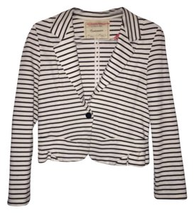 Anthropologie white with black stripes Blazer
