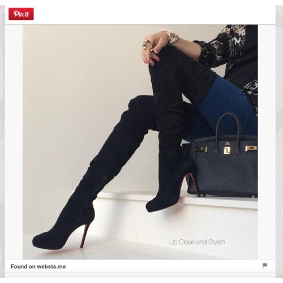 new concept d8a91 eb334 Christian Louboutin Blac Louis Xi 120 Boots/Booties Size US 6 Regular (M,  B) 18% off retail