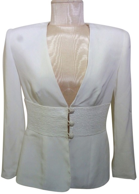 Black Tie Oleg Cassini White Jacket