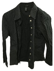 Club Monaco Button Down Shirt Black