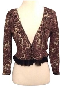 bebe Crop Leopard Sweater