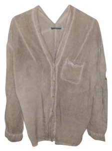 Brandy Melville Button-down Longlseeve Adjustable Sleeve Top Beige