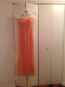 Donna Morgan Peach Fuzz Stephanie Dress