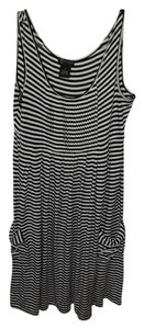 New Directions short dress Black and White Striped on Tradesy