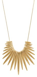 Michael Kors MKJ4507 Michael Kors Tribal Pendant Statement Necklace Gold Tone