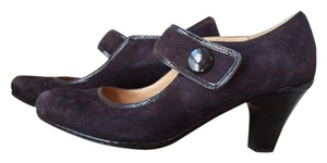 Söfft 9.5 Wide Mary Janes Suede Dark Purple Pumps