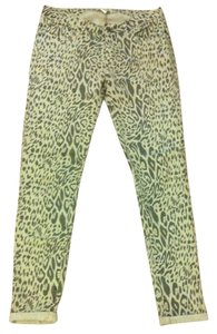Forever 21 Printed Skinny Jeans-Medium Wash