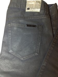 A|X Armani Exchange Limited Edition Metallic Night Out Faux Leather Skinny Jeans