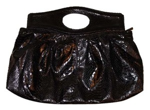 The Limited Snakeskin Black Clutch