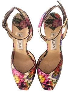 Jimmy Choo Platform Python Snakeskin Multicolor Sandals