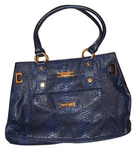 Gianni Bini Snakeskin Tote in Navy