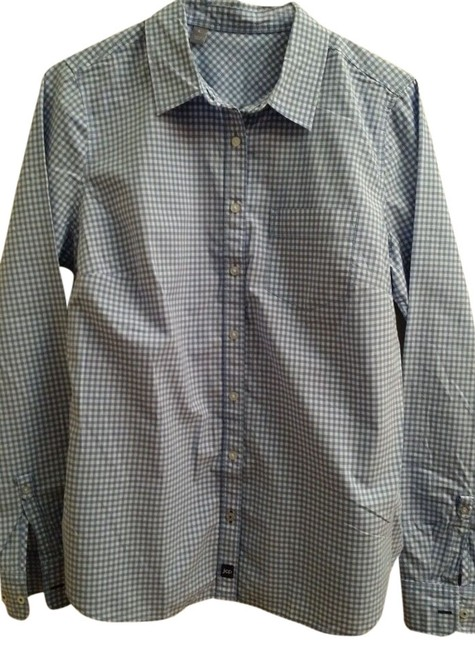 Other Button Down Shirt Blue/White Check