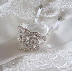 Other Wedding Bridal Beaded Crystal Bracelet Cuff Bangle
