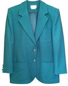 Carroll Reed Vintage 100% Wool Classic Forest Green Blazer
