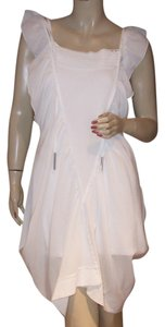 Cop. Copine short dress White Avant Garde Ruffle Draped on Tradesy