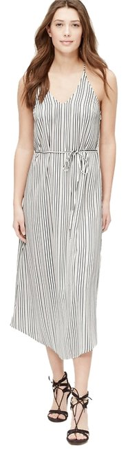 Item - White Striped Racerback Midi Long Short Casual Dress Size 00 (XXS)