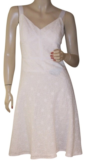 Carmen Marc Valvo short dress White Eyelet Floral Fitted on Tradesy