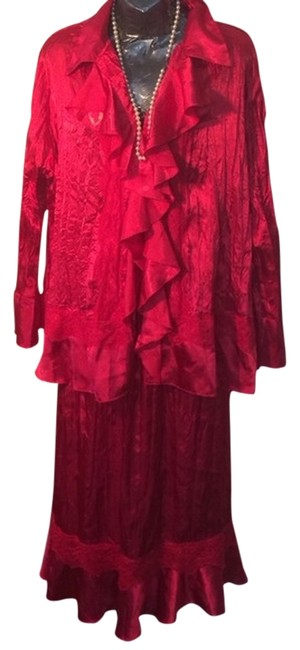 Item - Red/Cranberry Free Shipping Skirt Suit Size 18 (XL, Plus 0x)