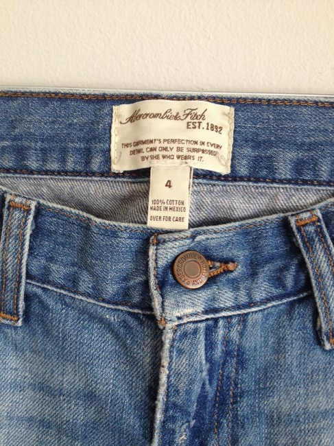 Abercrombie & Fitch Straight Pants Denim blue