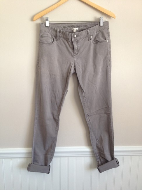 Ruehl Skinny Pants Grey Plum