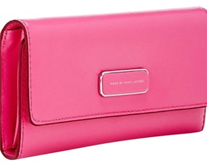 Marc by Marc Jacobs Marc By Marc Jacobs Hot Pink Too Hot To Handle Large Tri Fold Wallet New With Tags