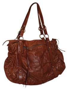 Chocolat Blu Leather Tote in Brown