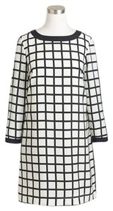 J.Crew short dress Black and white Shift Grid Windowpane on Tradesy