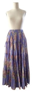 Sarah Arizona Vintage Cotton Maxi Skirt Lavender Blue, Dusty Rose Pink, Beige, Green Floral