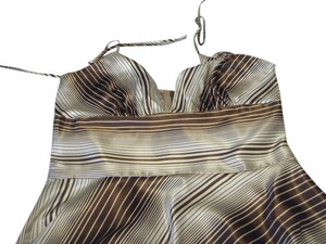 A.P.N.Y. short dress Brown and White Striped on Tradesy