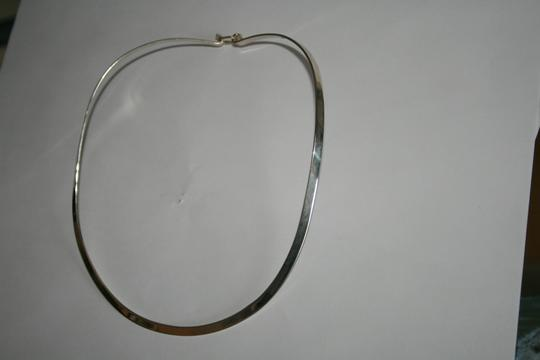 """Other 16""""Oval-Style Choker w/clasp Necklace 925 Silver"""