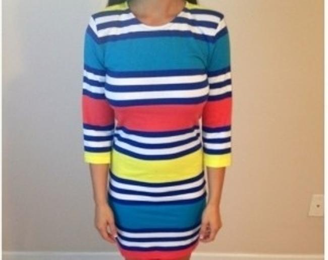 French Connection short dress Blue/red/white/yellow on Tradesy
