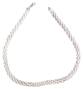 Other Braided Silver Long Necklace
