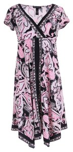 INC International Concepts short dress Pink Black on Tradesy