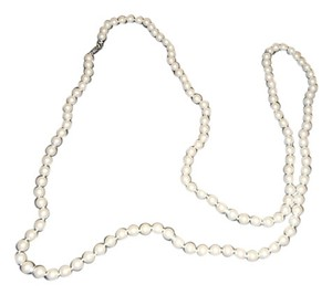 Stella & Dot Stella And Dot La Coca White Faux Pearl and Pave Crystal Necklace - 60