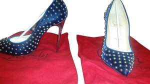 Christian Louboutin Studded navy blue Pumps